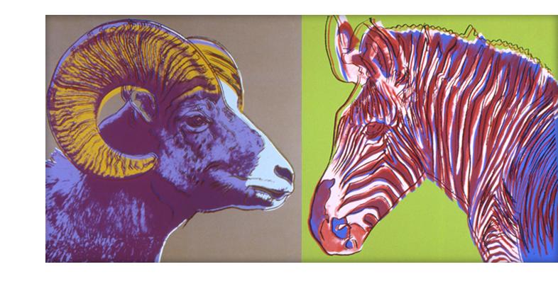 Andy Warhol Ram and Zebra