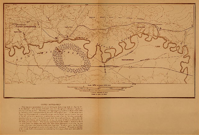 Custer's Battlefield Map