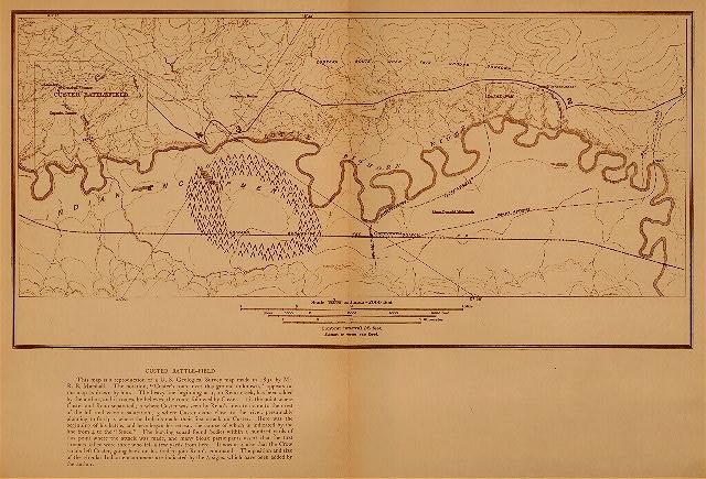Custer's Battlefield Map